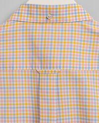 Regular Fit Short Sleeve 3-Color Gingham Broadcloth Shirt