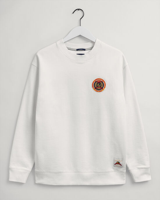 Relaxed fit World Crest sweatshirt med rund halsringning