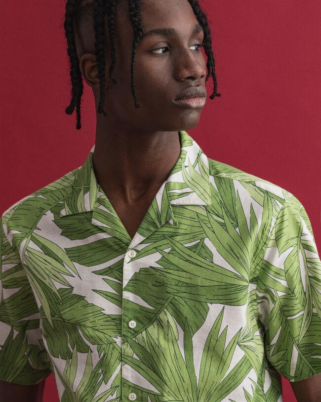 Regular fit Palm Breeze kortärmad mönstrad skjorta