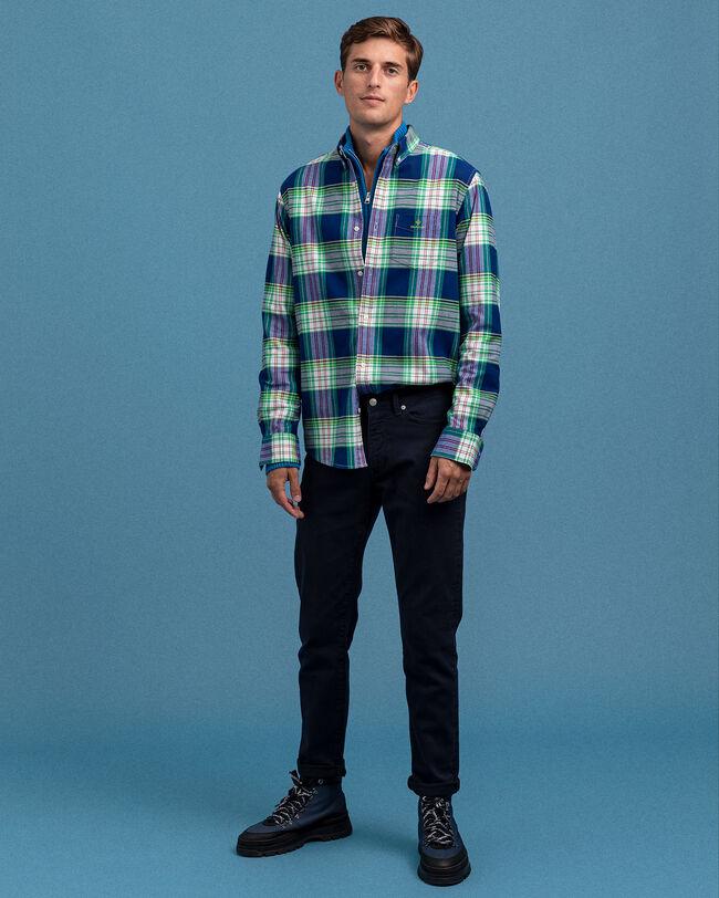 Regular Fit Brushed Bright Plaid Oxford Shirt