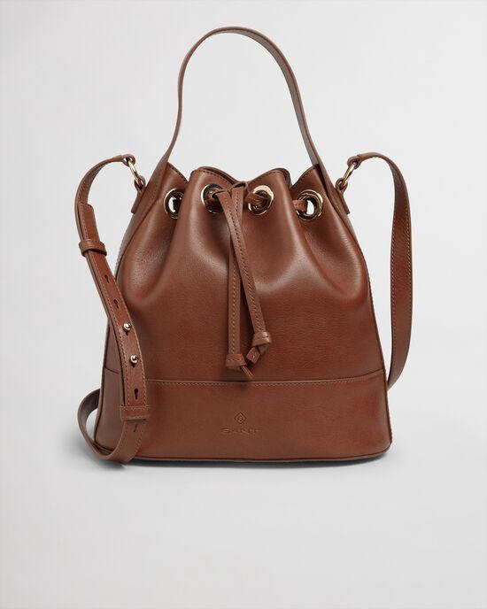 Bucketväska i skinn