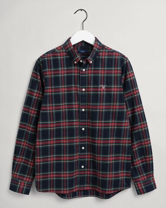 Teen Boys skotskrutig flanellskjorta