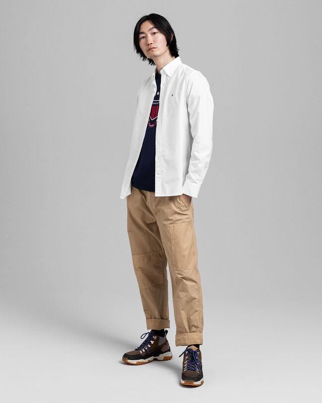 Slim Fit Oxfordskjorta