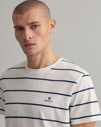 T-shirt med marina ränder