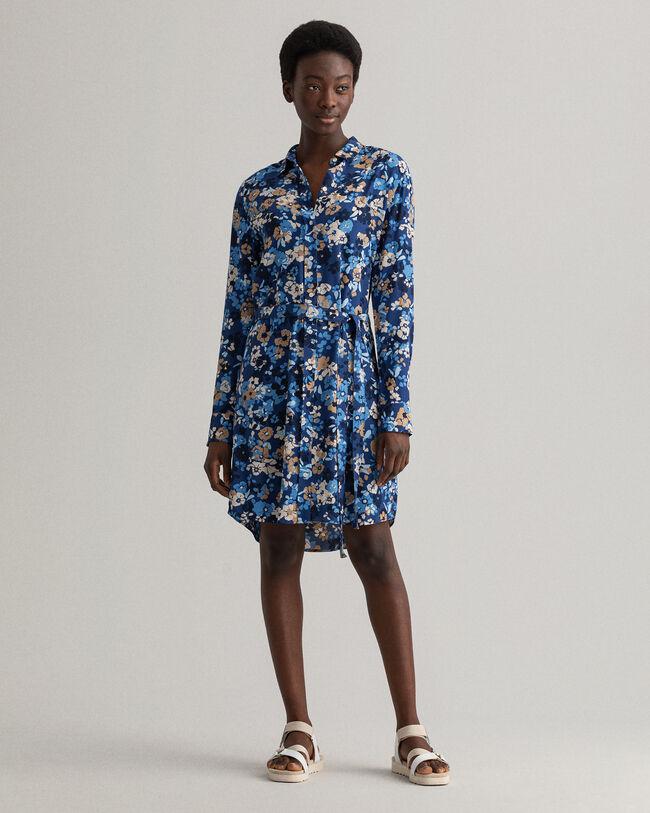 Liberation Bouquet mönstrad skjortklänning