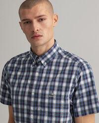Regular fit Tech Prep™ kortärmad rutig skjorta