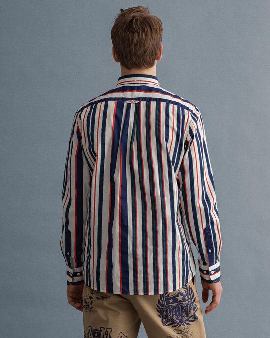 Regular fit tryckt randig skjorta