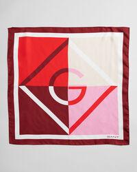 Iconic G blockfärgad silkessjal