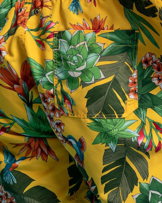 Classic fit Humming Garden mönstrade badshorts