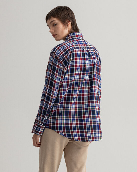 Relaxed fit rutig flanellskjorta