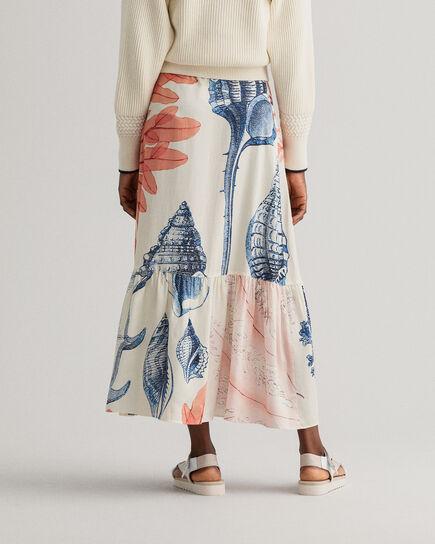 Seashell mönstrad kjol