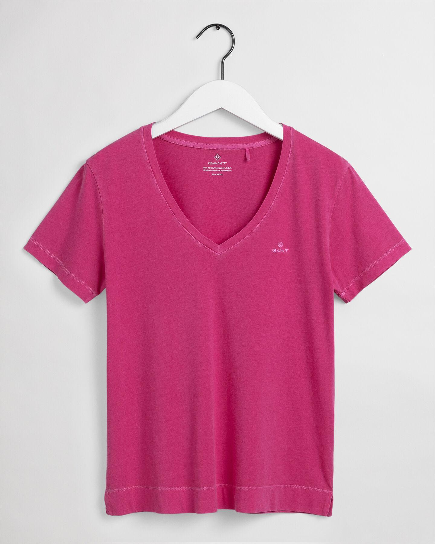 Sunfaded V-ringad T-shirt