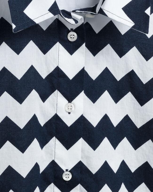 Zigzag skjorta i bomullsvoile