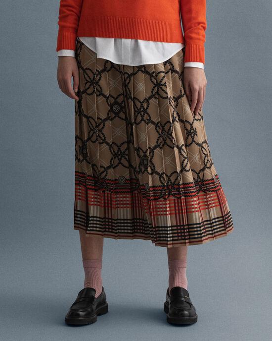 Rope mönstrad veckad kjol