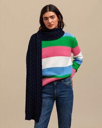 Multicolor Crew Neck Sweater