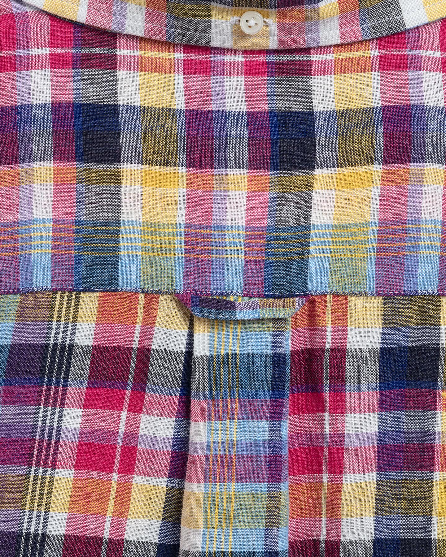 Regular fit madrasrutig linneskjorta