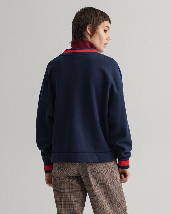 Retro Shield broderad sweatshirt