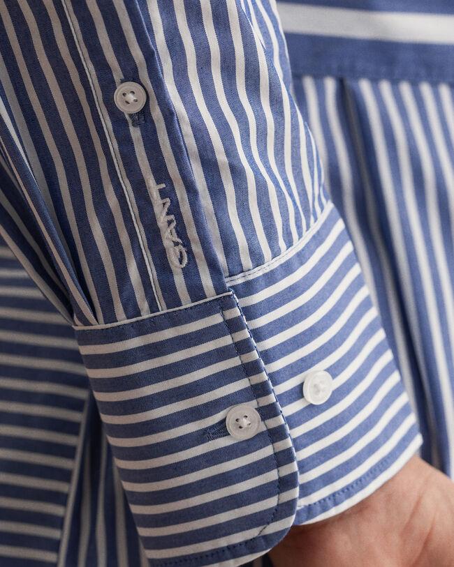Tech Prep™ randig skjortklänning med knytband