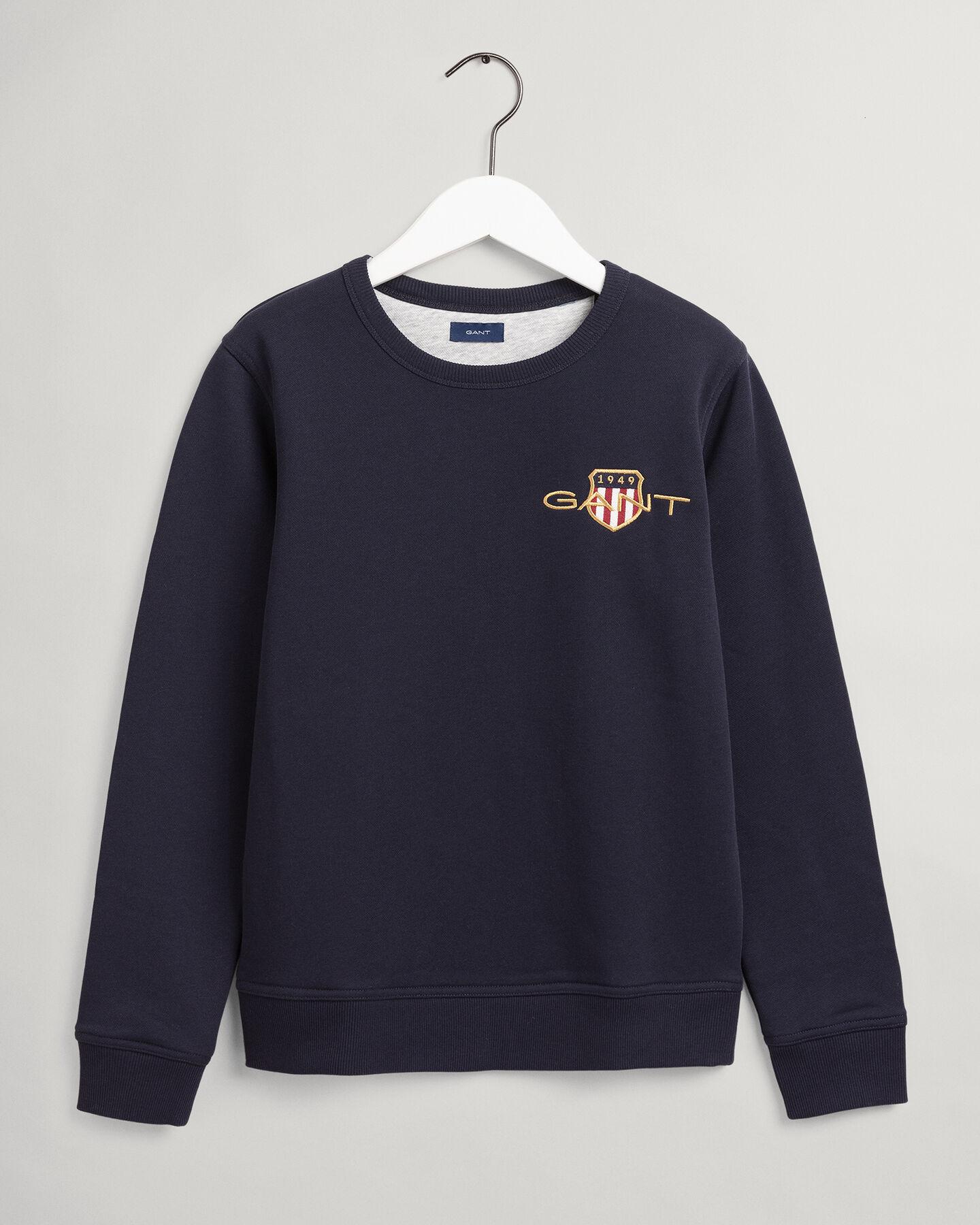 Teens Archive Shield broderad sweatshirt med rund halsringning