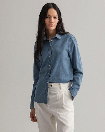 Luxury skjorta i chambraybomull