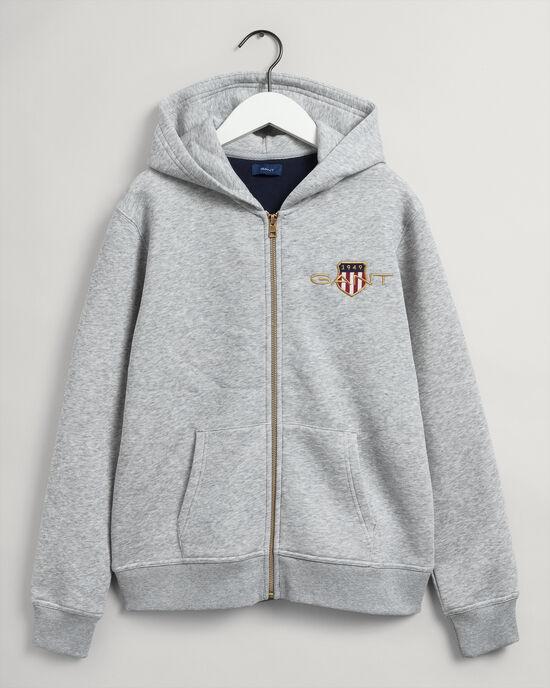 Teens Medium Archive Shield hoodie med dragkedja