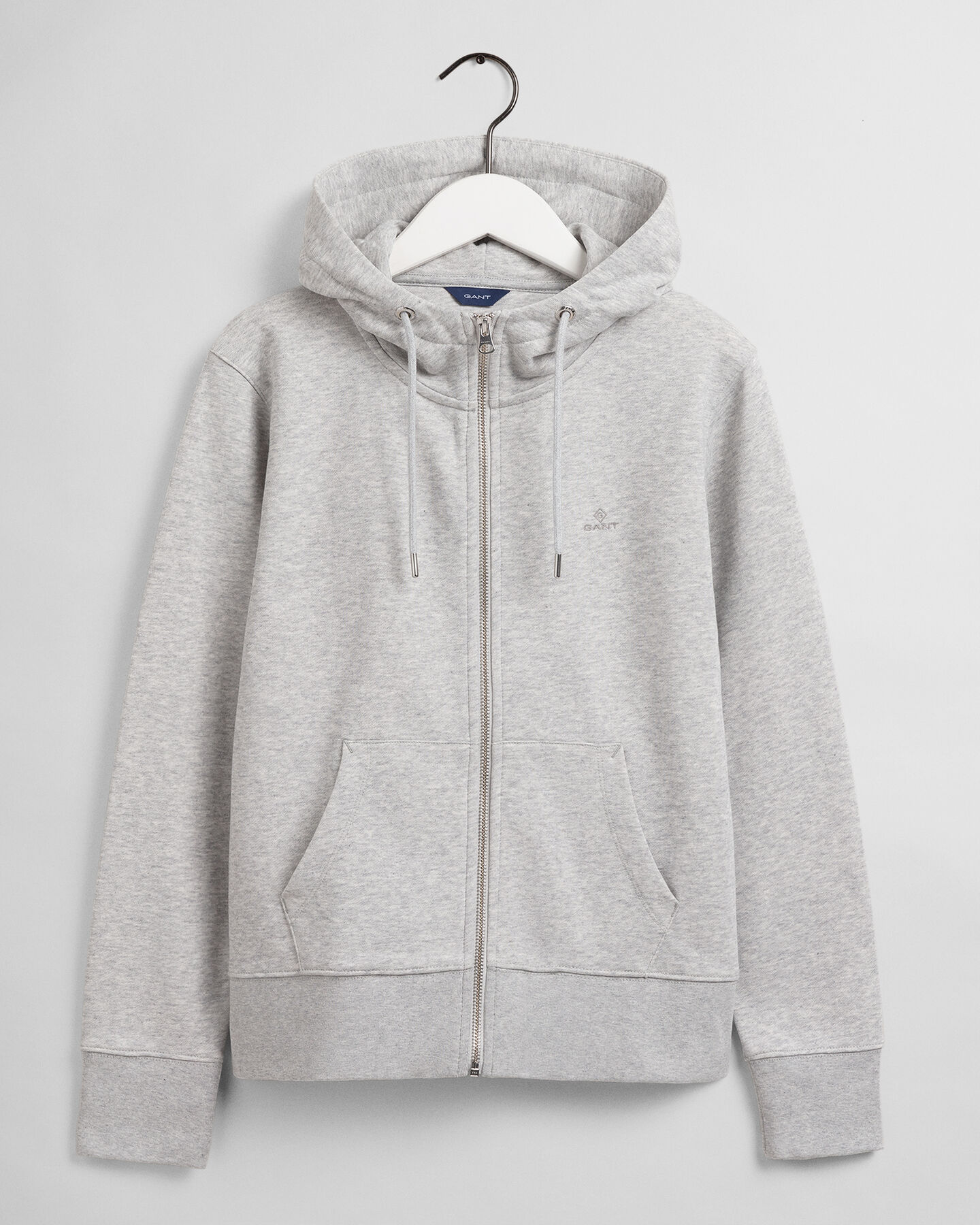 Original hoodie med dragkedja