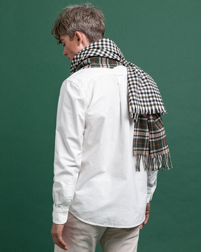 Regular fit plaggfärgad oxfordskjorta