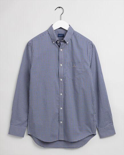 Regular fit tvåfärgad ginghamvävd poplinskjorta