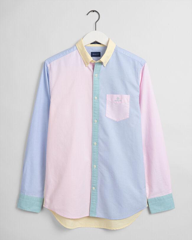 Regular fit skjorta med paneler
