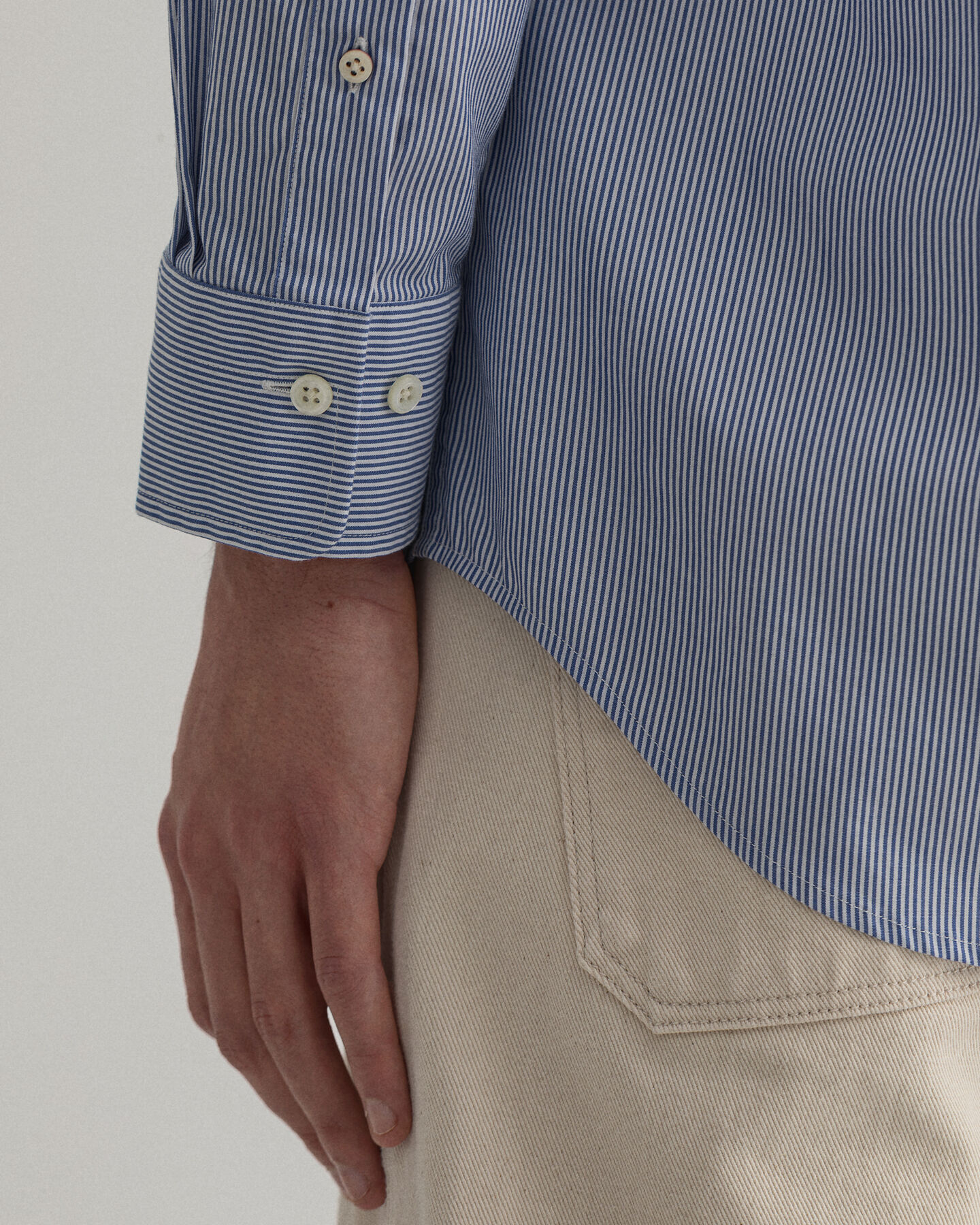 Regular Fit Banker Stripe Broadcloth Shirt