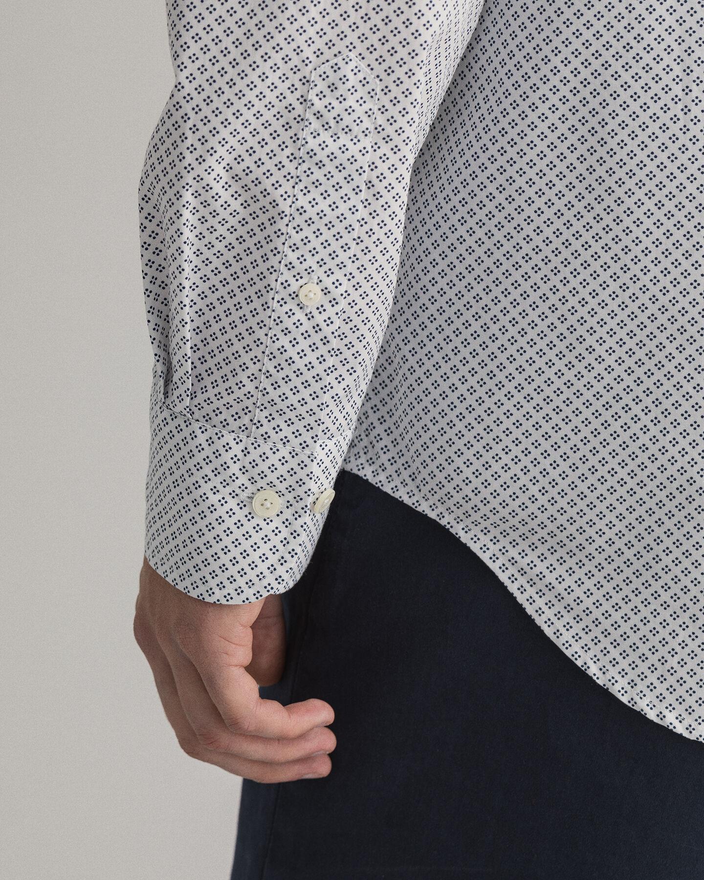 Regular Fit Micro Dot Shirt