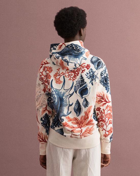 Seashell mönstrad hoodie