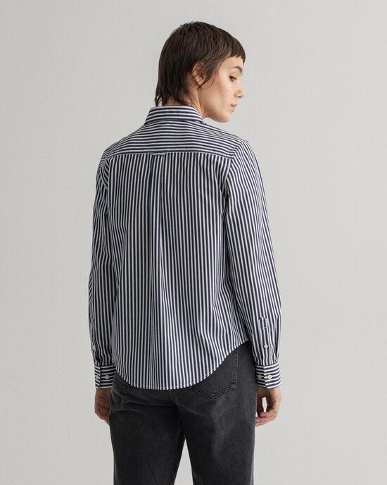 Randig poplinskjorta