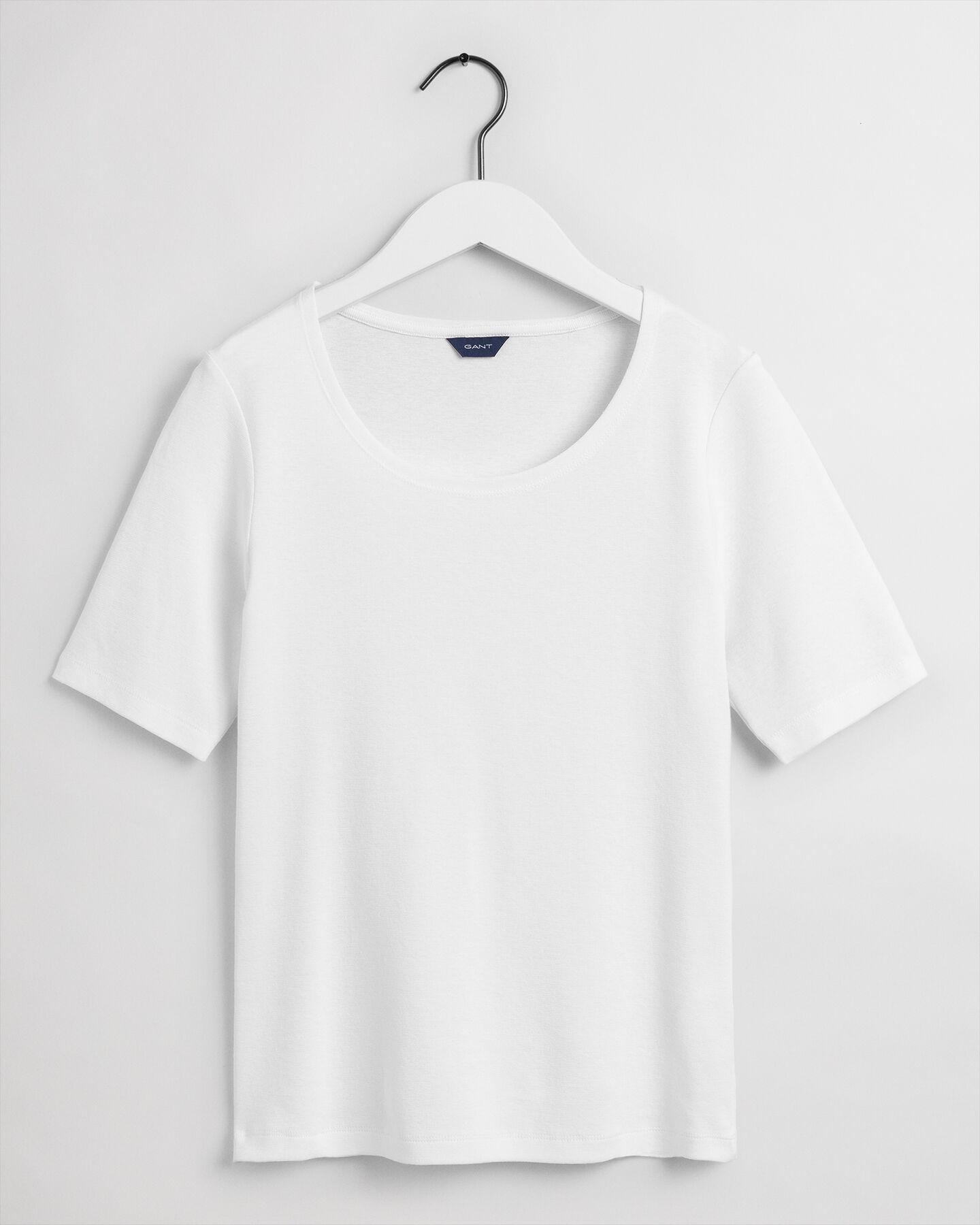 Long-Short Sleeve Rib T-Shirt