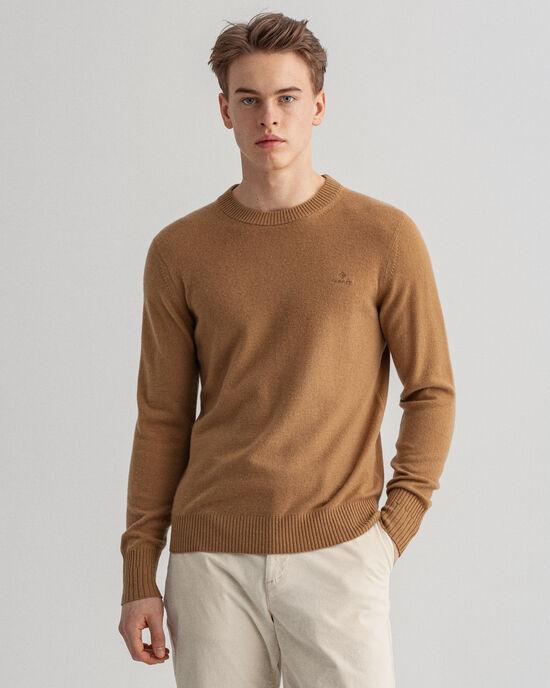 Rundhalsad tröja i kashmir