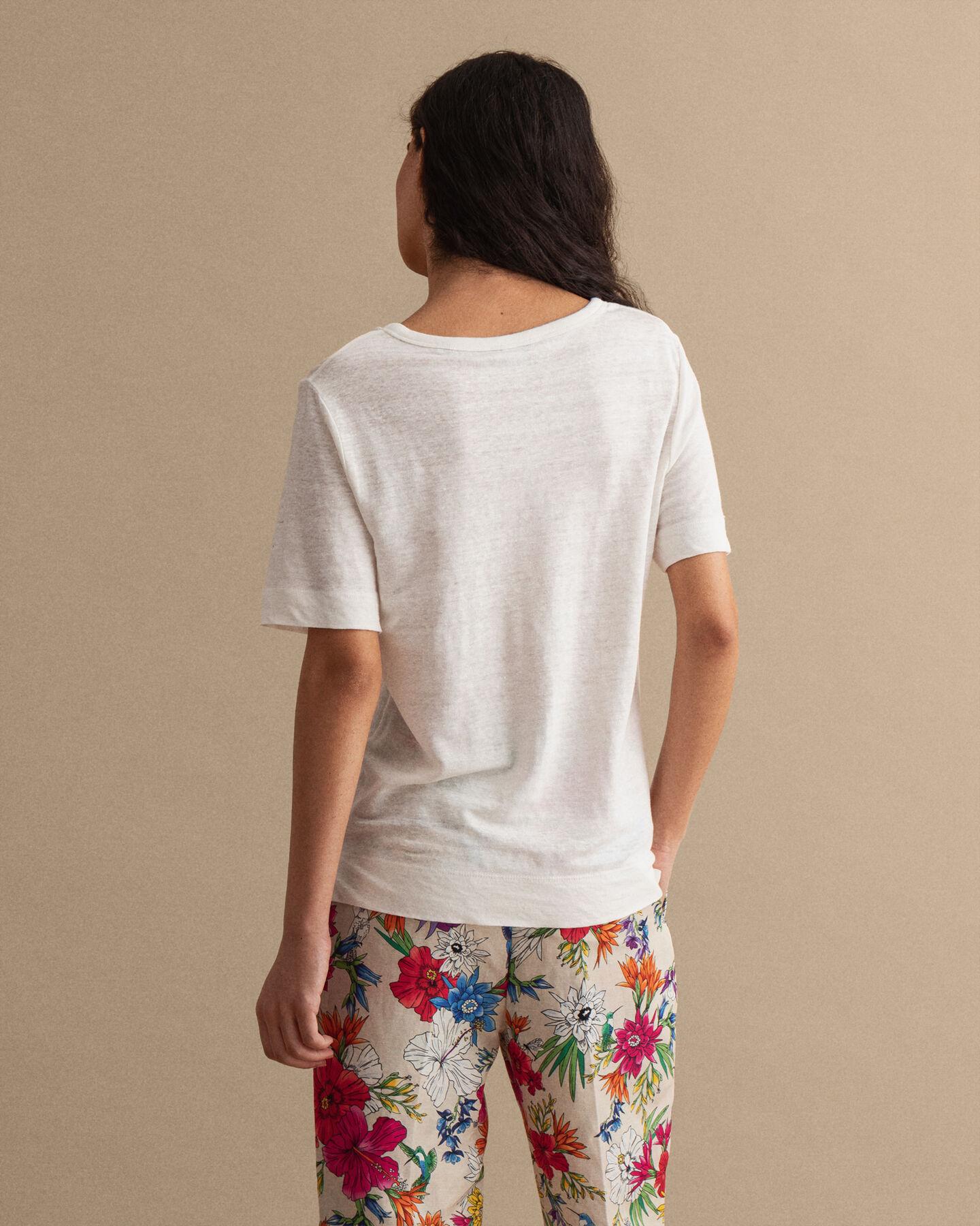 T-shirt i linne