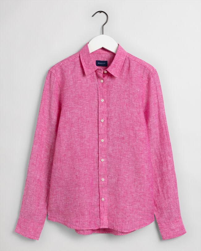 Skjorta i linnechambray