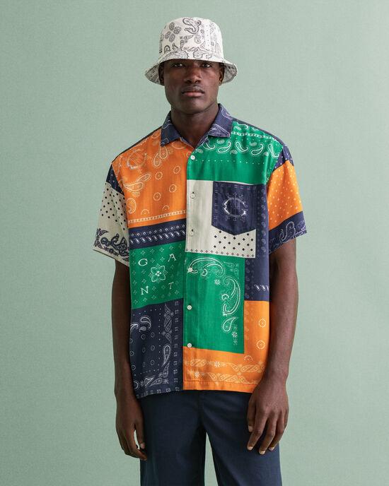 Relaxed fit Bandana kortärmad mönstrad skjorta