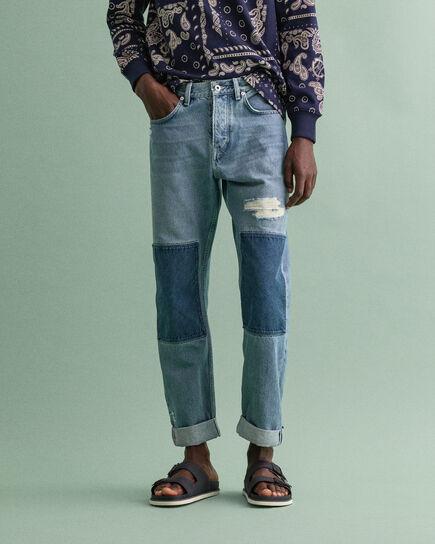 Classic jeans med lappar