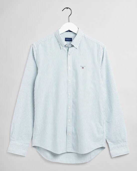 Slim fit oxfordskjorta med mellanbreda ränder