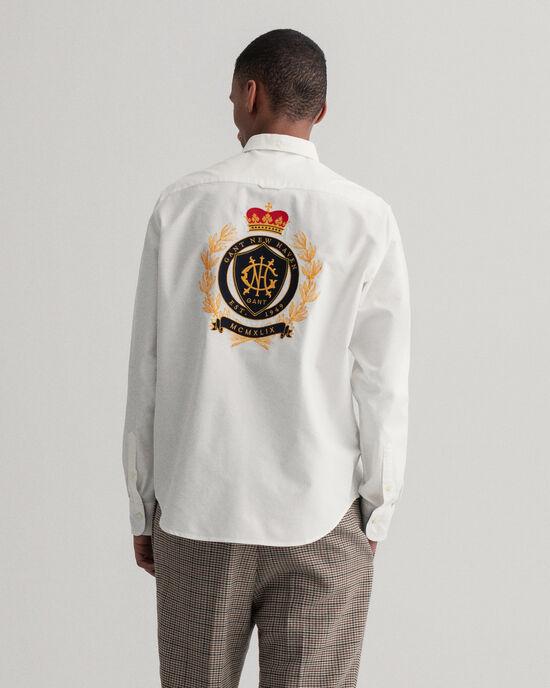 Regular fit skjorta med broderat Crest