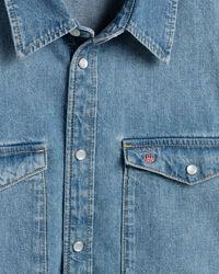 Teen Boys oversized jeansskjorta