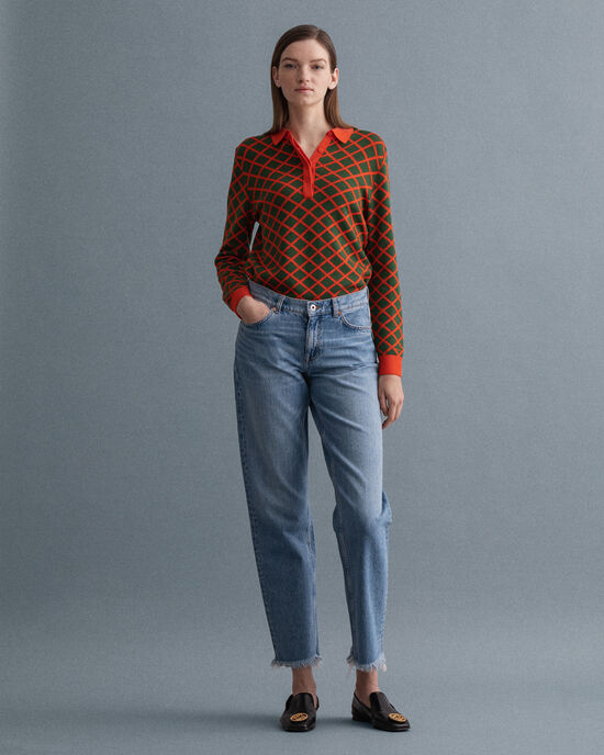 Camie Relaxed fit jeans med kortare ben