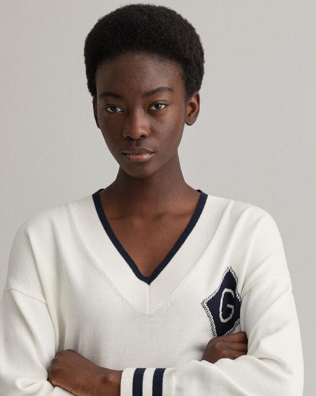 Iconic G tröja med V-ringning