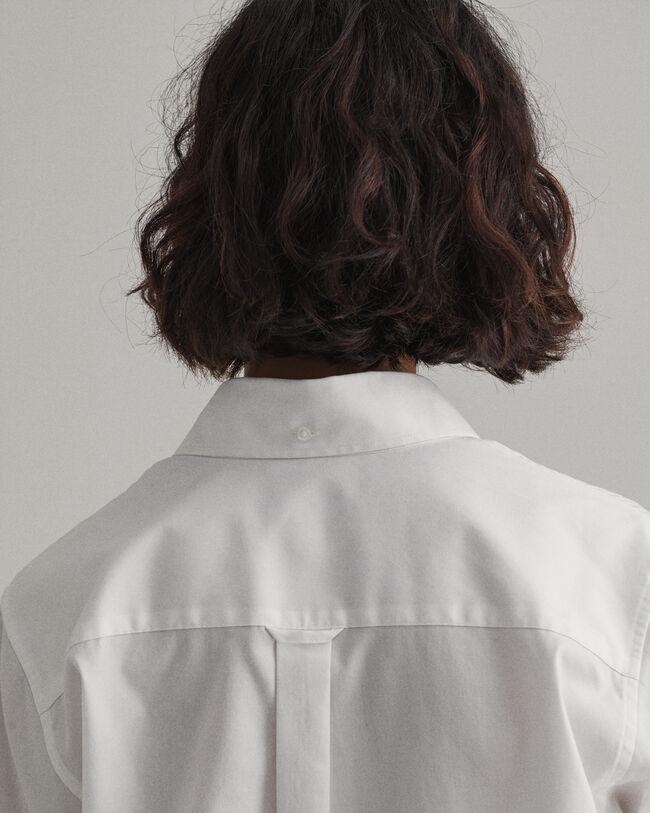 Kortärmad pinpointvävd oxfordskjorta