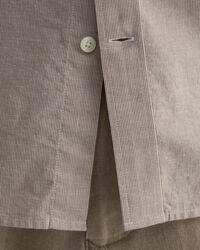 Regular fit kortärmad mikrorandig skjorta i bomull och linne