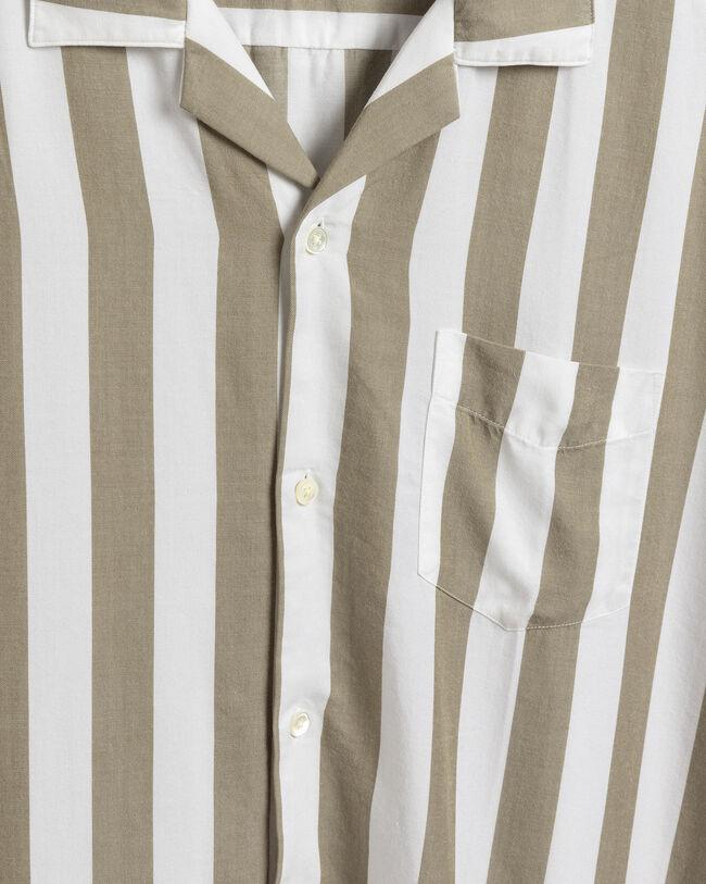 Relaxed fit Pure Prep kortärmad randig skjorta