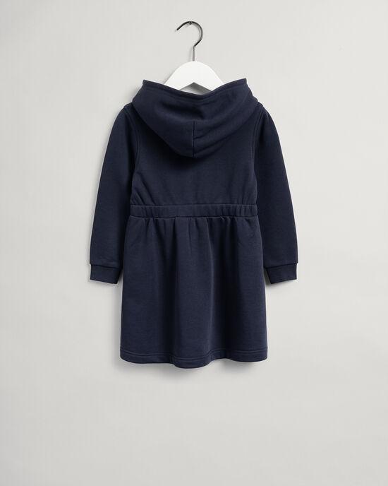 Girls Script Shield sweatshirtklänning