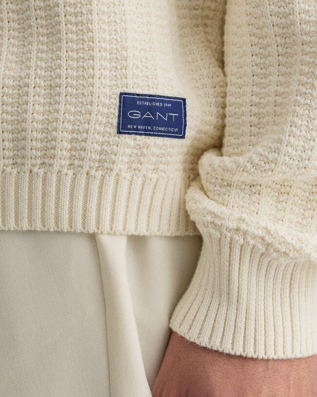 Texture flerfärgad rundhalsad tröja