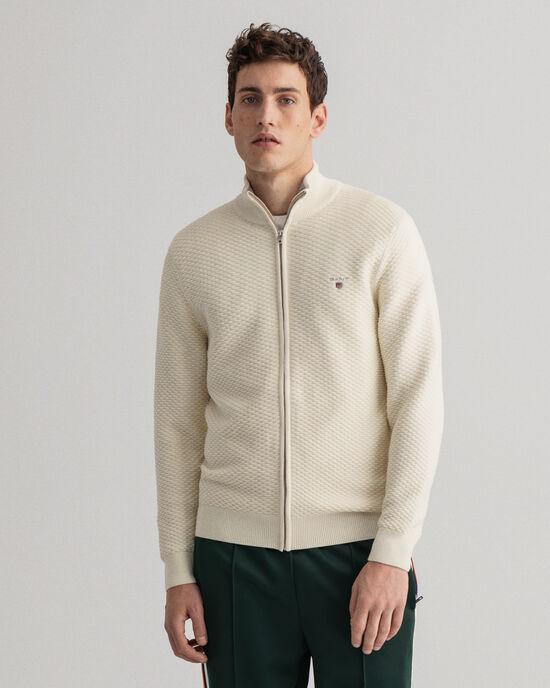 Triangle Texture tröja med lång dragkedja